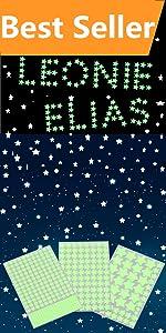452pcs glow stars