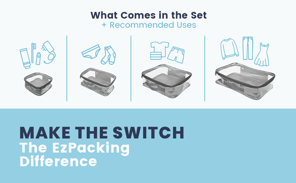 Why switch to EzPacking cubes?