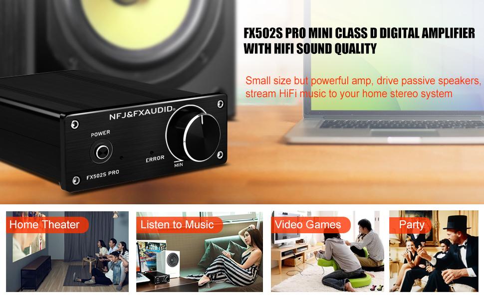 hifi audio power amplifier