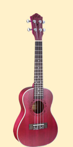 Ranch Ukulele 23 inch Professional Wooden Ukelele Instrument With Free Online 12 Lessons red