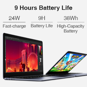 Fast charge & 9 Hours Battery Life