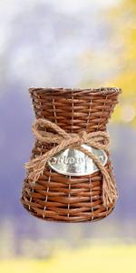 small basket vase