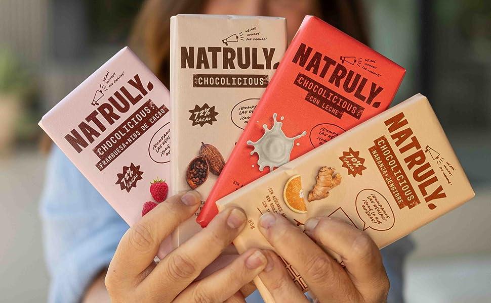 NATRULY Tableta de Chocolate sin Azúcar y sin Edulcorantes ...
