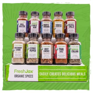 Organic 10 Spice Gift Set: Veggie Lovers