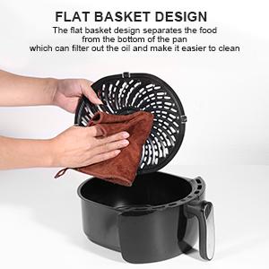 Non-stick Flat Basket