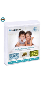 HOMEIDEAS Premium Waterproof Mattress Protector