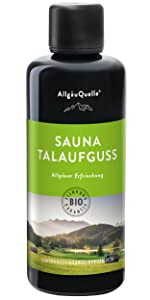 Sauna Allgäuer Erfrischung Talaufguss