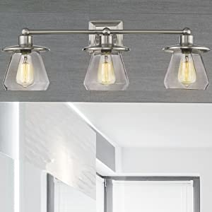 Beionxii Bathroom Vanity Light Three Light Bath Wall Sconce Powder Room Indoor Wall Lamp