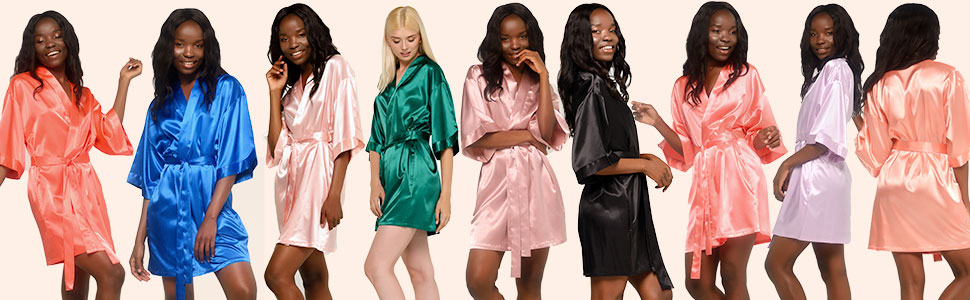 Many colors to choose from silk robes