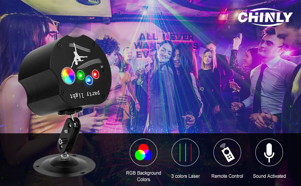 party disco light rave lights karaoke lights