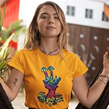 trippy psychedelic fashion tees for concerts shows raves rave tshirt cool peace zen t-shirt