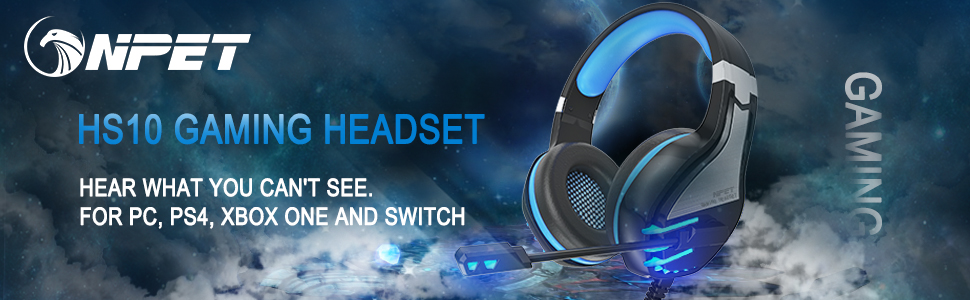 gaming headset for pc, ps4, xbox one and switch