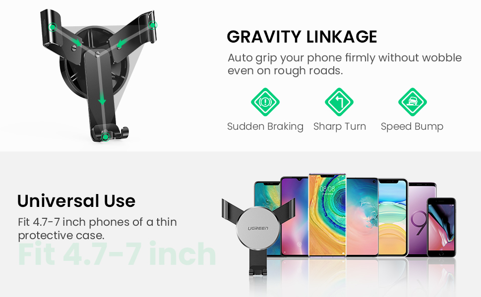 gravity mobile phone mount for car air vent