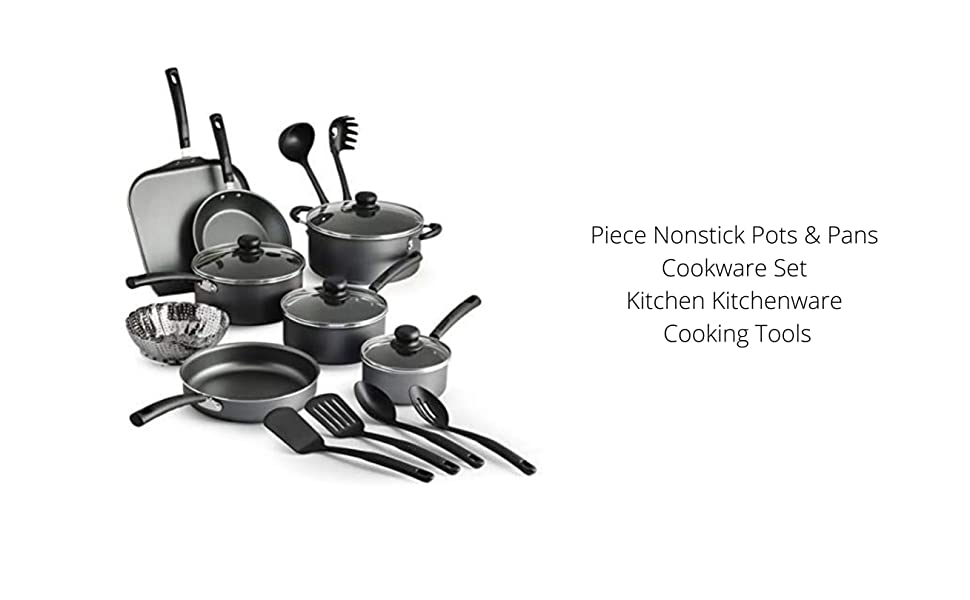 Piece Nonstick Pots & Pans Cookware Set Kitchen Kitchenware Cooking