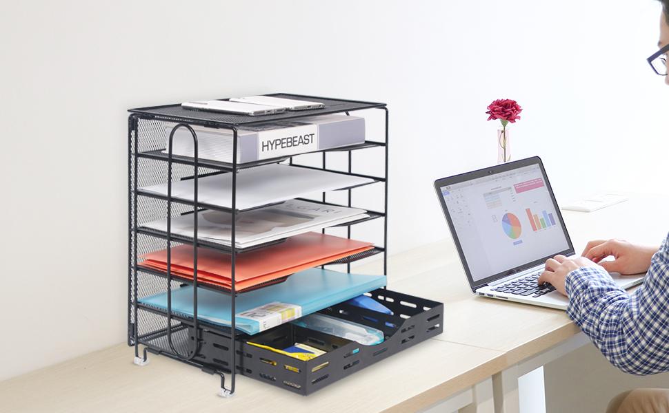 desk file organizer tray paper storage