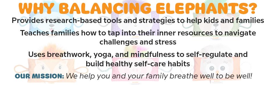 breathwork, wellness, balancing elephants,yoga for kids,mindfulness,relaxation, self-regulation, SEL