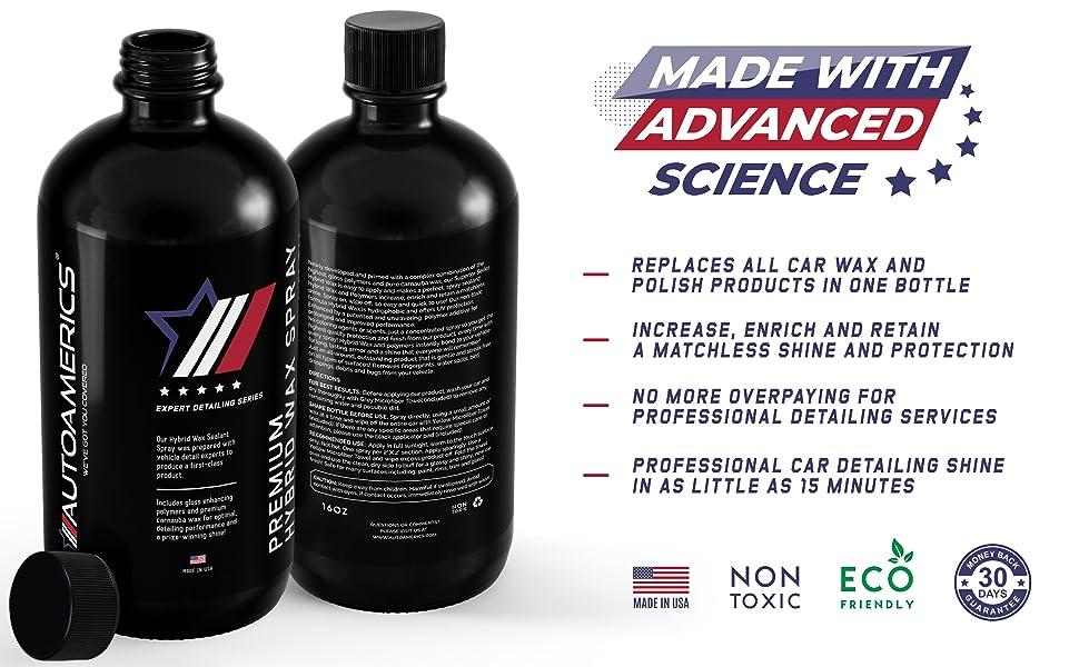 autoamerics hybrid car wax sealant spray quick detailer polish carnauba car detailing mirror shine