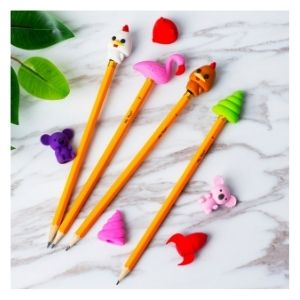 Mr. Pen- Animal Topper Erasers, 22 Pack