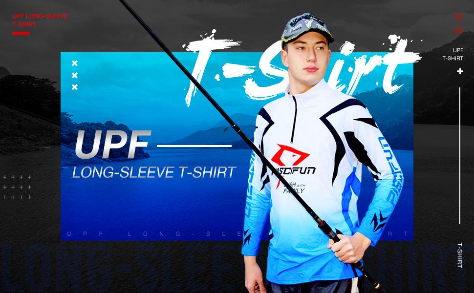 Long Sleeve Fishing T-Shirt Sun Protection Fishing Clothing Piscifun Fishing T-Shirt Performance UPF 30