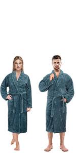 turkish bathrobe plush robe women men fluffy bathrobe long fleece fuzzy soft adult plus size unisex