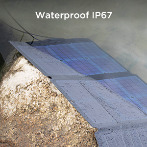 Waterproof solar panel