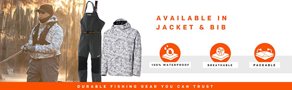 Grundens Charter GORE-TEX  available in jacket, bib features