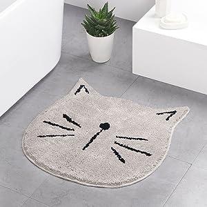 cute doormat grey