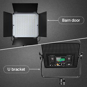 barn door and U bracket design