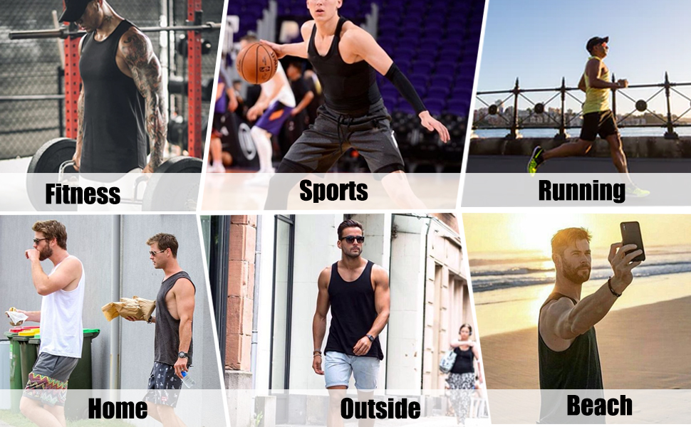 Men's 3 Pack Quick Dry Workout Vest  OCCASIONS