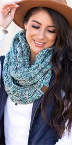 infinity scarf wrap shawl knot loop circle blanket accessory fashion cute warm winter clothing snow