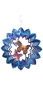 3D butterfly PATTERN WIND SPINNER FOR BALCONY GARDEN DECOR