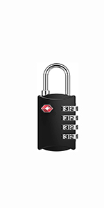 travel lock suitcase padlock 4 Digit TSA Approved Padlock locker padlock backpack lock small lock