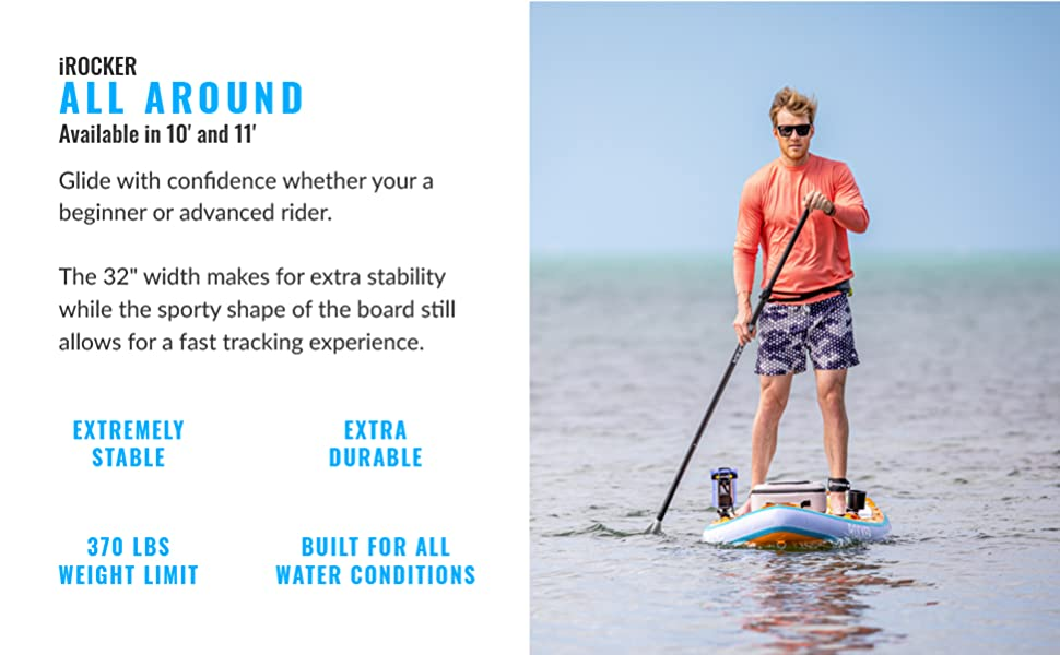 iRocker All Around Inflatable Standup Paddleboard