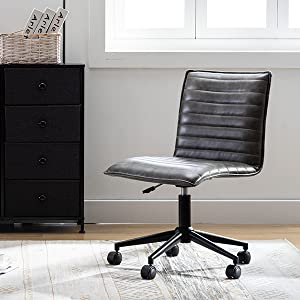 duhome leather office chair computer desk chair