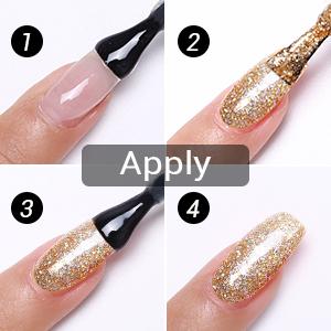 apply the gel nail polish