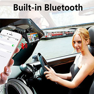 Built-in bluetooth for making hands-free