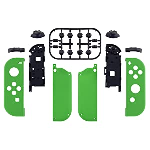 Soft Touch Grip Green Handheld Controller Housing Shell W/ Full Buttons for Nintendo Switch Joy-Con