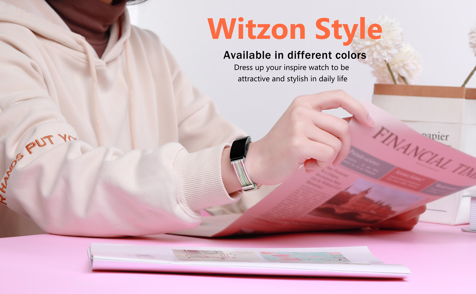 fabric woven bands for inspire hr