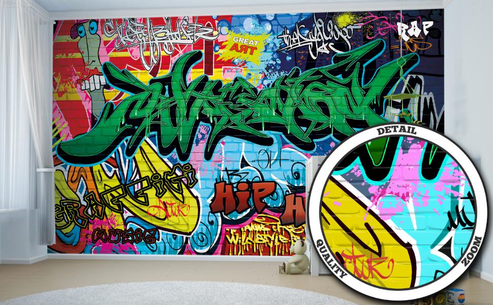 GREAT ART Mural De Pared – Graffiti – Letras De Colores Pop Art ...