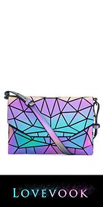 Geometric Luminous Crossbody Bag