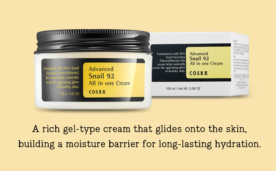 A rich gel type cream that glides onto the skin, building a moisture barrier for long hydration