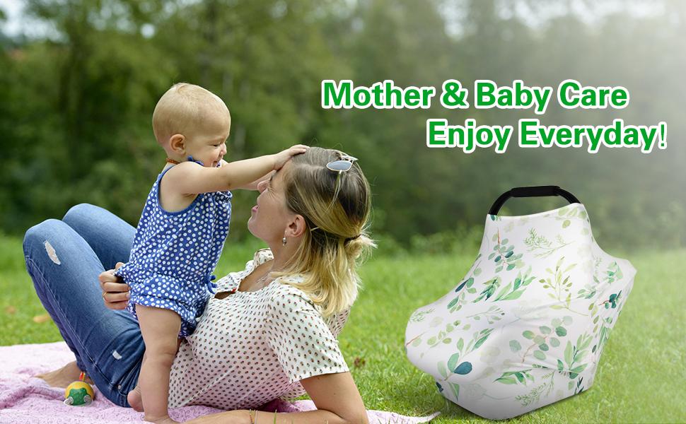 cubierta de cochecito Zhongke Breastfeeding Cover Nursing Scarf Bufanda de enfermer/ía cubiertas el/ásticas para Baby Carrier