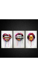 abstract print Motivational Wall Art Ready to Hang modern canvas artwork Money Art