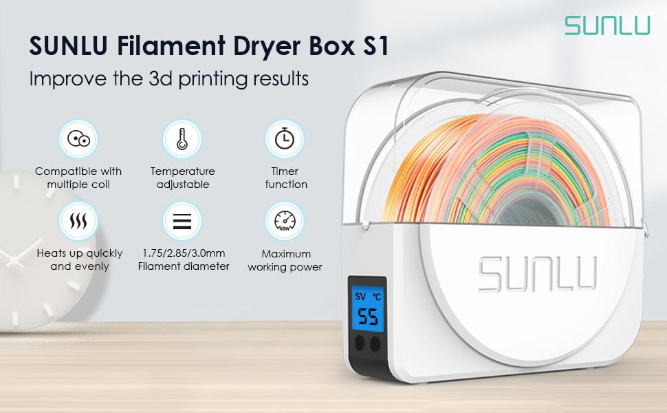 SUNLU filament dryer box S1