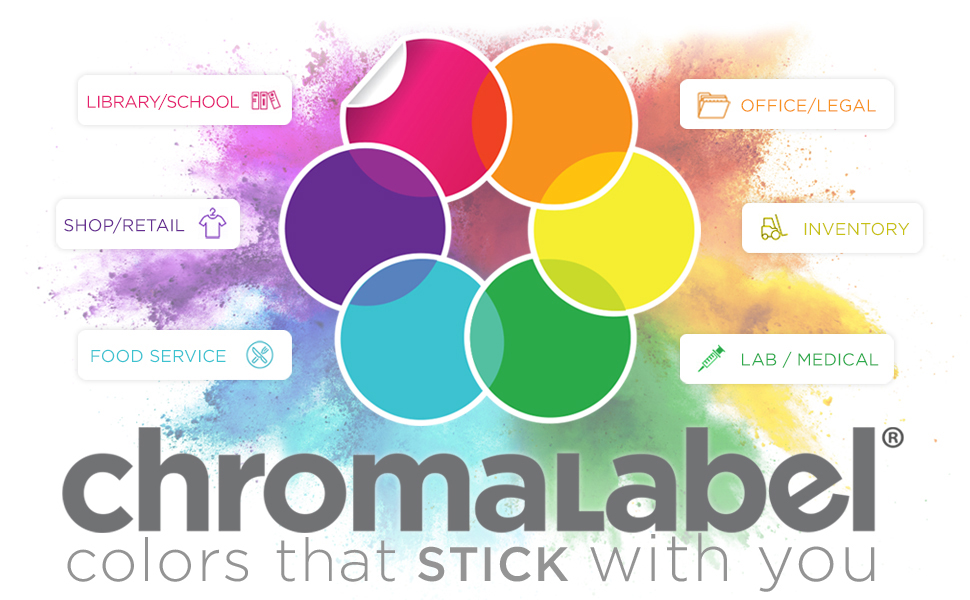 Color Coding tapes and stickers for Libraries, Stores, Restaurants, Offices, Warehouses and Labs