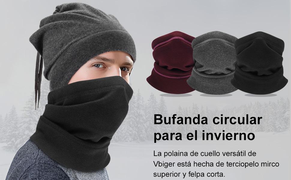 VBIGER Mascarilla Calentador de Cuello Pasamontañas Bufanda de ...