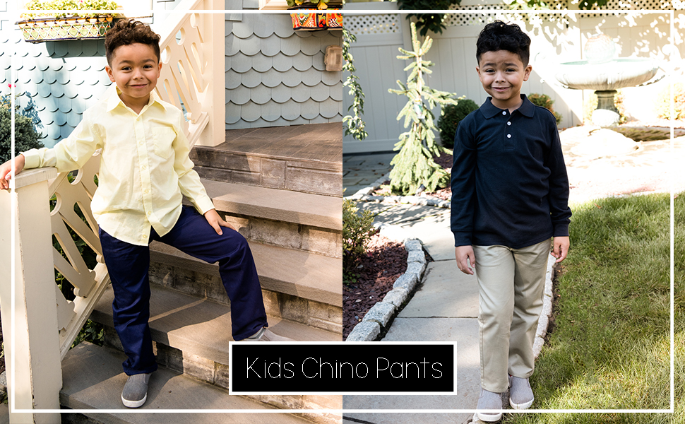 Size 2-14 Years Leveret Kids /& Toddler Pants Boys Uniform Chino Pants Variety of Colors