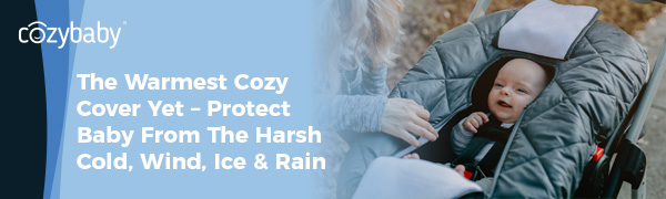 Cozy Cover Infant Carrier Cover, Premium Cozy Cover, Cozy Cover Premium, Protect Baby From the Cold