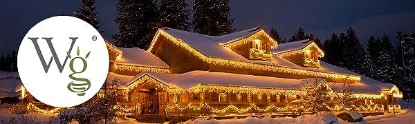 Wintergreen Lighting LED Icicle Lights