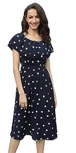 Vestido Mujer de Gasa Hombros Descubiertos Estampado Vívido de Verano